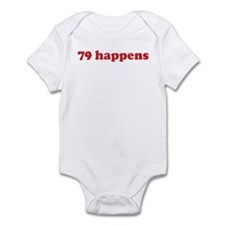 79 happens (red) Infant Bodysuit