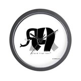 Ali Black Elephant Wall Clock