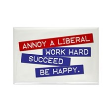 """Annoy a Liberal"" Rectangle Magnet"
