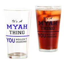 Cute Myah's Drinking Glass