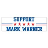 Support MARK WARNER Bumper Bumper Sticker