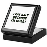 I eat kale because I'm smart Keepsake Box