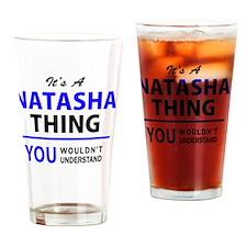 Cute Natasha Drinking Glass