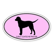 Curly Coated Retriever (oval- Oval Decal