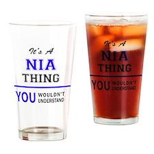 Cute Nia Drinking Glass