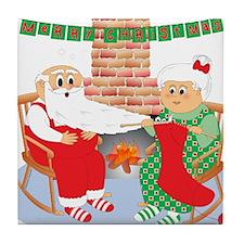 A Froggy Christmas! Tile Coaster