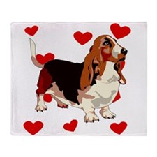 Basset Hound Love Throw Blanket