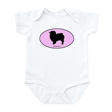 Keeshound (oval-pink) Infant Bodysuit