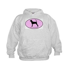 Black and Tan Coonhound (oval Hoodie