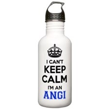 Funny I'm angie Water Bottle