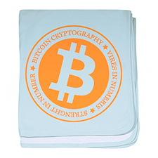 Type 1 Bitcoin Logo baby blanket