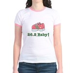 26.2 Marathon Runner Shoes Pink Jr. Ringer T-Shirt