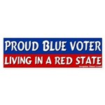 Red Texan Blue Voter Bumper Sticker