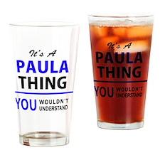 Cute Paula Drinking Glass