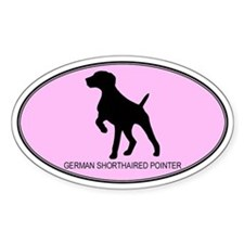 German Shorthaired Pointer (o Oval Decal