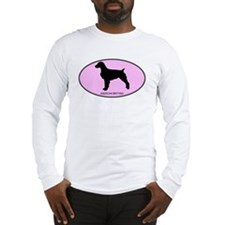 American Brittany (oval-pink) Long Sleeve T-Shirt