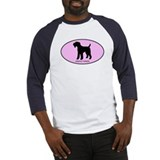 Airedale Terrier (oval-pink) Baseball Jersey