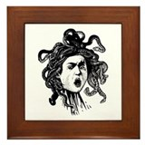 Greek Gorgon Medusa Framed Tile