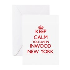 Keep calm you live in Inwood New Yo Greeting Cards