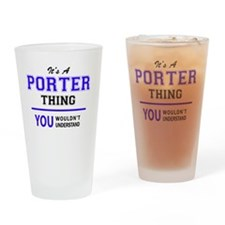 Cute Porter Drinking Glass