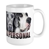 Great Dane Up Close Not RED Ceramic Mugs