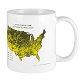 Voter Turnout 2000 County Map Mug