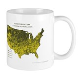 Voter Turnout 2004 County Map Mug