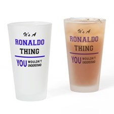 Cute Ronaldo Drinking Glass