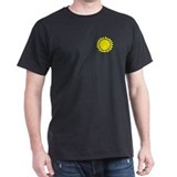 Black tShirt, Yellow Sunburst