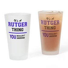 Unique Rutgers Drinking Glass