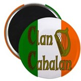 Clan Cahalan w/ Irish Flag Magnet