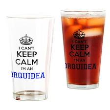 Unique Orquideas Drinking Glass