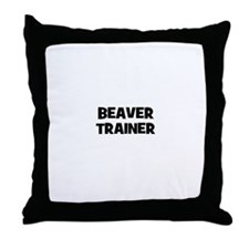 beaver trainer Throw Pillow
