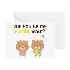 Cute Be My Honey Bear Love Confession Greeting Car