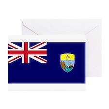 Saint Helena Flag Greeting Cards (Pk of 10)