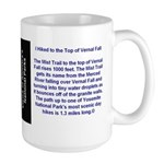 I Hiked the Mist Trail to Vernal Fall Large Mug