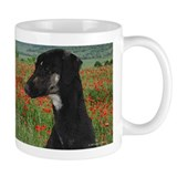 Sloughi in Red Poppy Field Small Mug