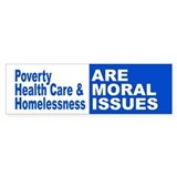 Moral Issues Bumper Bumper Sticker