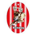 Reindog Oval Ornament