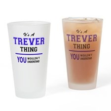 Cute Trever Drinking Glass