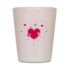 Hearts Shot Glass