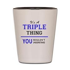 Unique Triple a Shot Glass