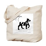 Kian Black Dog Tote Bag