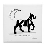 Kian Black Dog Tile Coaster