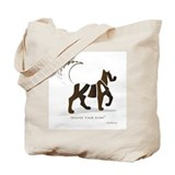 Kian Brown Dog Tote Bag