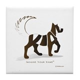 Kian Brown Dog Tile Coaster