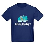 26.2 Marathon Runner Kids Navy Blue T-Shirt