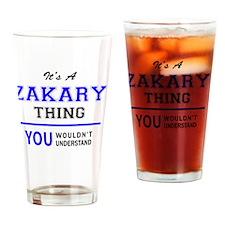 Cute Zakary Drinking Glass