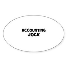 accounting Jock Oval Decal