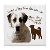 Unique Anatolian shepherd dog Tile Coaster